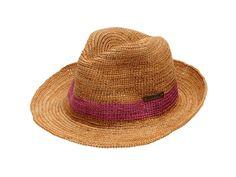 Crochet Raffia Sun Hat by Christy's >> Cute for summer!