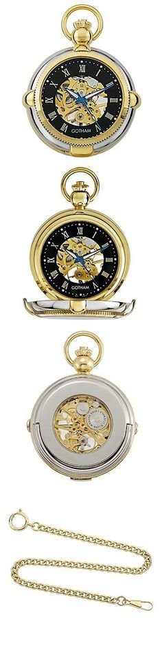Other Pocket Watches 398: Gotham Men S Two-Tone Photo Insert Skeleton Pocket Watch With Built-In S... -> BUY IT NOW ONLY: $114.5 on eBay!