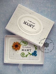Boxed Floral Mothers Day Card