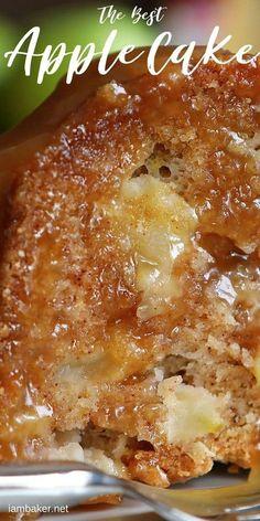 Apple Dessert Recipes, Dump Cake Recipes, Köstliche Desserts, Apple Recipes, Cookie Recipes, Apple Bundt Cake Recipes, Meal Recipes, Crazy Cakes, Chocolate Cake Recipes