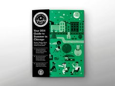 Okay... so I should have posted this months ago... but here's the final 2014 Night Out in the Parks Magazine.   I reworked the branding that I established last year for the Chicago Park District, m...