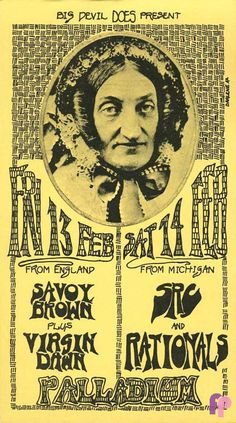 """The Palladium was located in Birmingham, Michigan and had a number of good acts come through the doors. The concert information we have indicates that they had shows from late 1969 through late 1971.The original handbill was printed on pale yellow stock and measures approximately 4"""" x 7""""."""