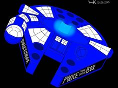 millennium falcon/TARDIS (doctor who)