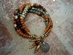 Gypsy Bracelet / Bohemian Bracelet / Boho Jewelry / by Syrena56, $49.00