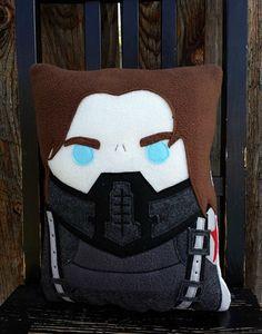 Capitán América, soldado de invierno, felpa, amortiguador, almohadilla de Bucky Barnes, regalo