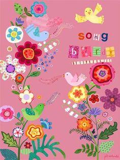 song bird illustration