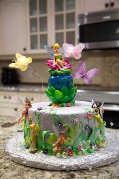Tinkerbell Fairy Birthday Cake By lvanleeuwen on CakeCentral.com