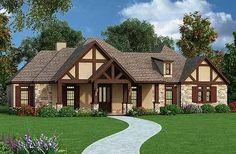 Plan 55138BR: Tudor exterior