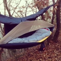 Ready for cold weather hammock camping!