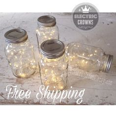 2m Fairy Lights Fall Wedding Mason Jar Lights von ElectricCrowns