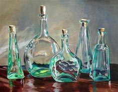 "Daily Paintworks - ""Green Glass Menagerie"" - Original Fine Art for Sale - © Lauren Kuhn"