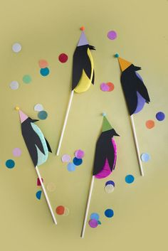 Penguin Cake Toppers DIY