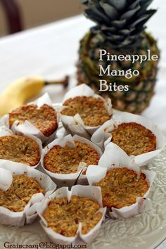Grain Crazy: Pineapple Mango Bites: If you use gluten-free oatmeal, these are gluten-free. dairy free, low sugar, no white sugar