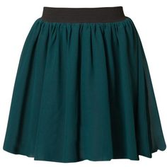 Even&Odd Pleated skirt ($39) ❤ liked on Polyvore