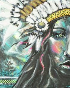 Eva LUBART Portrait amérindienne http://www.alittlemarket.com/peintures/fr_eva_lubart_portrait_amerindienne_peinture_acrylique_-10565681.html
