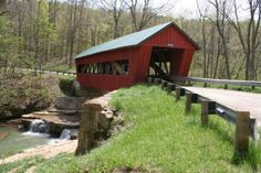 """The John Hunt Morgan Heritage Trail follows the path of Gen. Morgan and his Confederate """"raiders"""" across Ohio. A covered bridge in Morgan County is among the many surprising finds along the heritage trail."""
