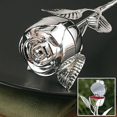 $20.94 at Bed Bath and Beyond! Silver-Plated Rose Ring Box