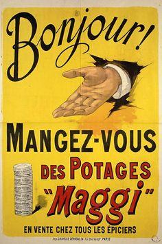 MAGGI Pottages, affiche vintage
