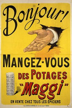 Istoria MAGGI Vintage Italian Posters, Pub Vintage, Vintage Advertising Posters, Vintage Labels, Vintage Advertisements, Etiquette Vintage, Old Pub, Vintage Fisher Price, Poster