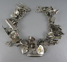 The Sight Of A Vintage Charm Bracelet Makes My Heart Beat Faster Sterling Silver