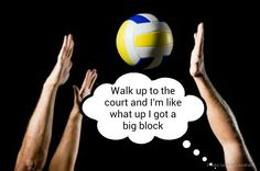 hahaha if only i was tall enough to block...