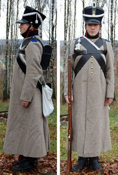 Great Russian infantry private from about 1810 uniform made by a gentleman in Russia, Prokopovich & Co.