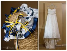 A baseball themed wedding with University of Michigan and New York Yankees charms at Hyatt Regency DTC hotel in Colorado. - April O'Hare Photography http://www.apriloharephotography.com