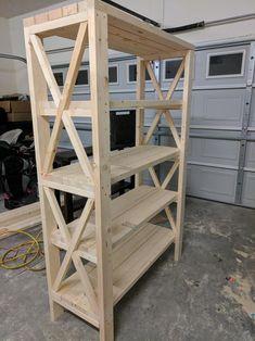 Shelf that I built Homemade Furniture, Diy Furniture Plans, Farmhouse Furniture, Wood Furniture, Diy Wood Projects, Home Projects, Bookcase Plans, Wooden Diy, Diy Home Decor