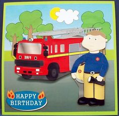 Fireman Arthur mini kit on Craftsuprint designed by Eva Cano - made by Cheryl French - Printed onto glossy photo paper. Attached base image to green card stock using ds tape. Built up image with 1mm foam pads. - Now available for download!