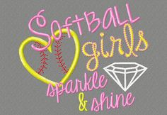Hey, I found this really awesome Etsy listing at https://www.etsy.com/listing/204084572/embroidery-design-5x7-softball-girls