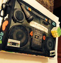 80s, 90s Boombox cake