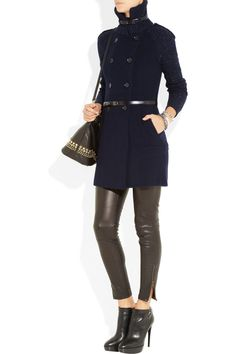 Burberry London|Double-breasted wool-blend cardi-coat |NET-A-PORTER.COM