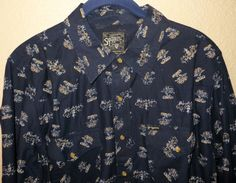 SOUTHERN THREAD MENS LS RETRO COWBOY RODEO WESTERN  BLUE FLORAL SHIRT NWT M $70 #southernthread #Western  ONLY $14.99 THRU JULY! MORE STYLES & SIZES! SOUTHERN THREAD BLOW OUT!