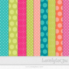 Quality DigiScrap Freebies: Circles and Dots paper pack freebie from Lovely To C U