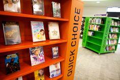 Environmental design of the library in Devon Centre in Cullompton Library Themes, Library Design, Library Ideas, Bookshelves, Bookcase, Library Signage, Adolescents, Environmental Design, Portfolio Design