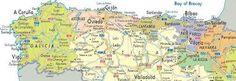 Resultat d'imatges de mapa de galicia y asturias