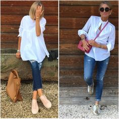 Jeans and white shirts for everyday life
