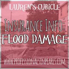 Insurance Info: Flood Damage. Do you know what to do if your car gets stuck in high water or if your house gets flooded? Check out my new post to see some pictures of flooding around Tampa and learn what to do if your property is damaged in a flood!