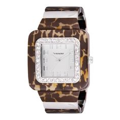 Vernier Women's VNR11074SS Tortoise Look Wired Polyurethane Bangle Quartz Watch Vernier. $30.00. Altogether classy, women's large timepiece is a must-have for any collection. This watch features a plastic stone bezel all over for a luxurious look; Tortoise Pattern wristwatch bracelet is an excellent addition to any woman's designer accessory collection. Icon fashion women's wristwatch by Vernier is all about stand-out style. Timepiece features sand brushed dial...