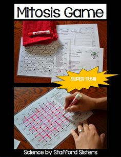 mitosis mitosis activity mitosis game meiosis mitosis and meiosis mitosis worksheet Teaching Cells, Teaching Schools, Teaching Biology, Teaching Ideas, Science Lesson Plans, Science Curriculum, Science Education, Science Cells, Science Biology