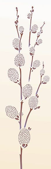 Large Pussy Willow Stencil Catkin Stencils