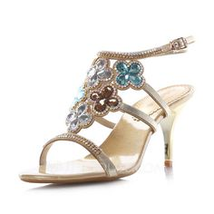 Wedding Shoes - $99.99 - Women's Real Leather Stiletto Heel Sandals With Buckle Rhinestone (087052234) http://jjshouse.com/Women-S-Real-Leather-Stiletto-Heel-Sandals-With-Buckle-Rhinestone-087052234-g52234