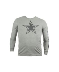 Nike Men s Long-Sleeve Dallas Cowboys Reflective T-Shirt Dallas Cowboys  Outfits b3635d299