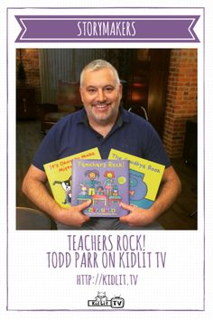 KidLit.TV StoryMakers featured author Todd Parr with books like Teachers Rock, The Goodbye Book and It's Okay to Make Mistakes. Interview and book giveaway ENTER HERE >>