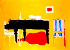 """Nicolas de Staël Le Piano (1955) Huile sur toile (160 x 220)  Ce tableau est un des derniers peints par Nicolas de Staël, peu avant """"Le Concert"""", son ultime oeuvre avant sa fin tragique à Antibes."""