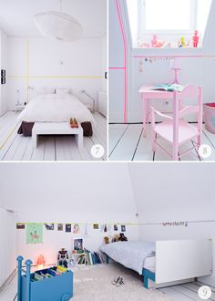 Use washi tape to add colour to walls