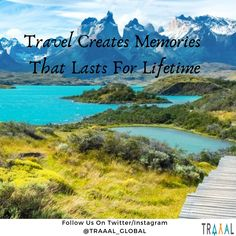 """""""Travel Creates Memories That Lasts For Lifetime."""" #FollowUs & #StayTuned for Updates! (^_^) #travel #travelquote #travelphotography #photography #nature #snow #mountains #adventures #vacations #green #blue #waters #quotes #motivation #travellers #tourists #tours #startups #ota #business #travelgram #instatravel #travelplanner #subscribe #comingsoon"""