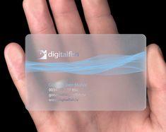 Plastic Business Card Design