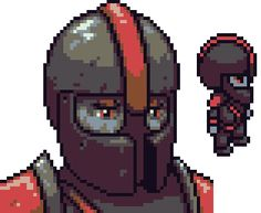 [OC] New pixel art of a Terrorforce Soldier from 2D RPG Towards The Pantheon! http://ift.tt/2dpOQQ4