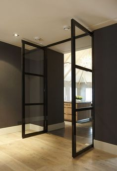 The Bod'or KTM collection constitutes a range of unique doors, from basic to iconic, completed with a choice from various opening and closing systems, plus the right trimmings, and high-quality locks and hinges. House Design, Steel Doors And Windows, Interior, House Styles, House Inspiration, Doors Interior, House Interior, Home Interior Design, Modern Interior